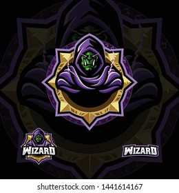 Orc wizard e-sport style vector illustration
