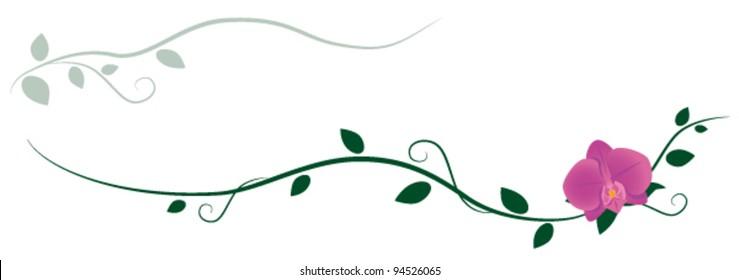 Orchid decorative ornament