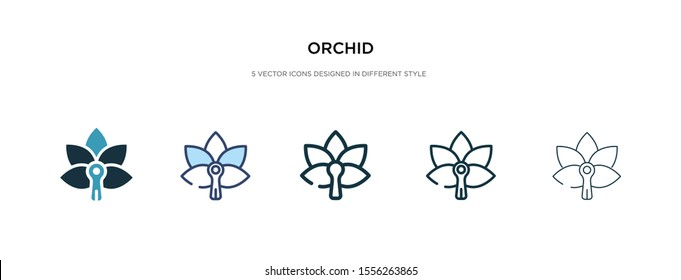 orchid icon in different style vector illustration. two colored and black orchid vector icons designed in filled, outline, line and stroke style can be used for web, mobile, ui
