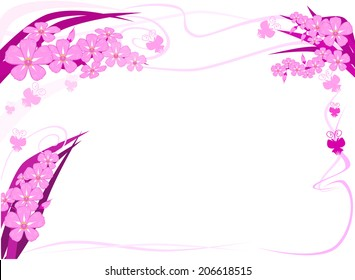 Orchid text frame vector