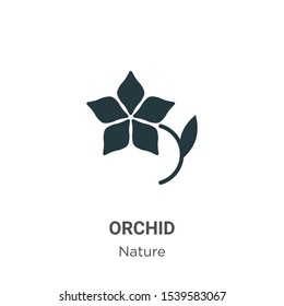 Orchid vector icon on white background. Flat vector orchid icon symbol sign from modern nature collection for mobile concept and web apps design.