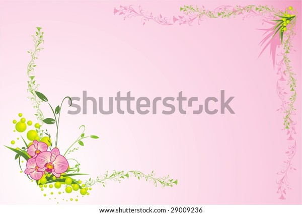 orchids-grass-composition-card-vector-60