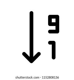 order by number descending