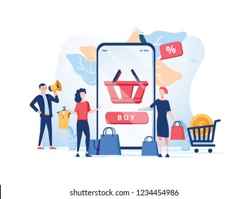 Order confirmation, Online internet shopping sale buy purchase process, online payment, customer service and delivery, mobile shopping, payment. App store online shopping black friday concept