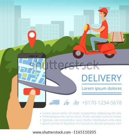 order delivery online shipment tracking system stock vector royalty