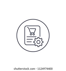 order processing line vector icon