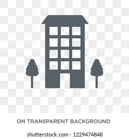 Ordinary residence icon. Trendy flat vector Ordinary residence icon on transparent background from business   collection. High quality filled Ordinary residence symbol use for web and mobile