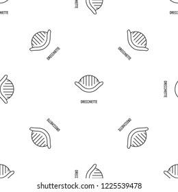 Orecchiette pattern seamless vector repeat geometric for any web design