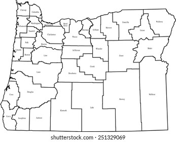 Oregon Counties Images Stock Photos Vectors Shutterstock