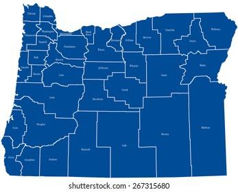 Oregon Map Images, Stock Photos & Vectors | Shutterstock