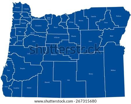 Free Oregon Map.Oregon Map Stock Vector Royalty Free 267315680 Shutterstock