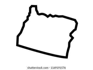 Oregon outline map state shape united states