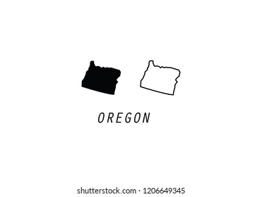 Oregon outline map state shape USA America borders