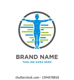 organ therapy logo design in the body