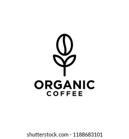 organic coffee logo icon designs vector
