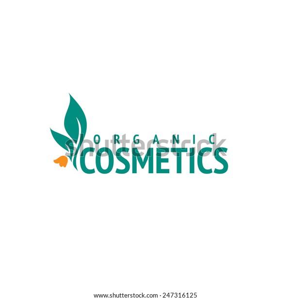 Organic Cosmetics Logo Design Vector Template Stock Vector
