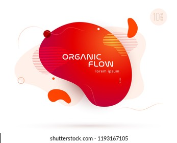 Organic design of liquid color abstract geometric shapes. Fluid gradient elements for minimal banner, logo, social post. Futuristic trendy dynamic elements. Abstract background. Eps10 vector.