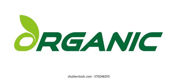Organic eco friendly green natural logotype