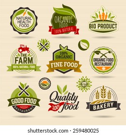 Organic Food Logo Images Stock Photos Vectors Shutterstock