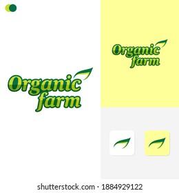 Organic Farm Logo Template Design