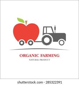 Organic farming apple