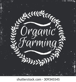 Organic Farming market hand-sketched herbal vector frame (template). Useful for ads, signboards, packaging, menu design, interior decorating and other design.