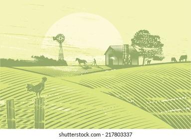 Organic farming, vector