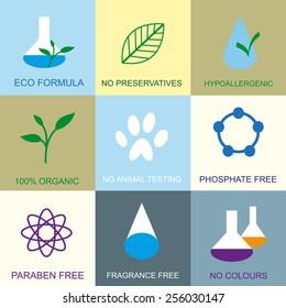 Organic flat icons.