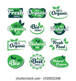 ORGANIC FOOD LABEL COLLECTIONS ELEMENT