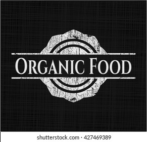 Organic Food on chalkboard