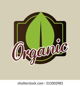 organic food product icon vector illustration graphic design