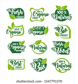 Organic Food Product Label Collection