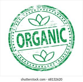 organic food  rubber stamp