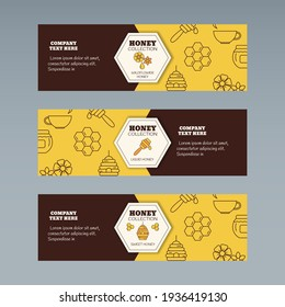 Organic honey collection concept. Vector illustration for website, mobile website, landing page, ui. Vector template.