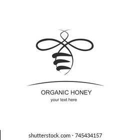 Organic honey logo