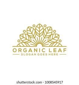 organic leaf logo template