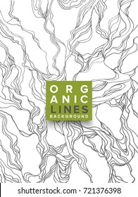 Organic Lines  Background, Abstract Illustration