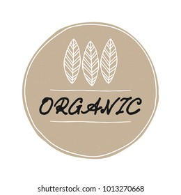 Organic logo with leaves