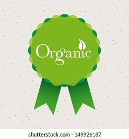 organic medal  over beige background vector illustration