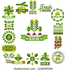 Organic Natural Olive Oil Label Set