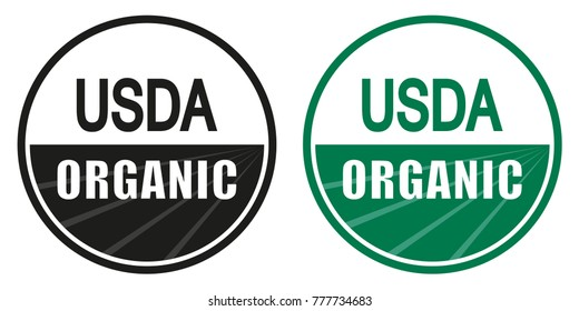Organic, natural product logo or label.