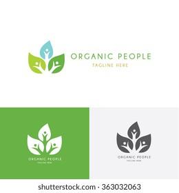 Organic people logo template.