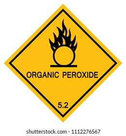 Organic Peroxide Symbol Sign, Vector Illustration, Isolate On White Background Icon. EPS10