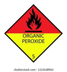 Organic peroxide vector sign , Class 5.2