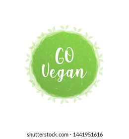 Organic product badge, vintage label with hand drawn lettering Natural cosmetics. Vector natural, organic food, bio, eco label and shape