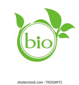 Organic product. Bio ecology. Natural bio product sign.