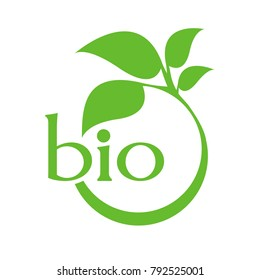 Organic product. Bio ecology. Natural bio product sign.
