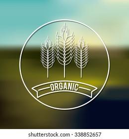 organic product design, vector illustration eps10 graphic