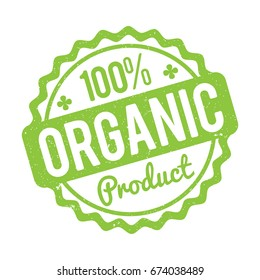 Organic Product rubber stamp green on a white background.