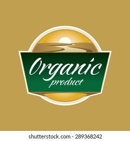 Organic Product Sign. Vector